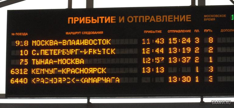 поезд расписание жд: